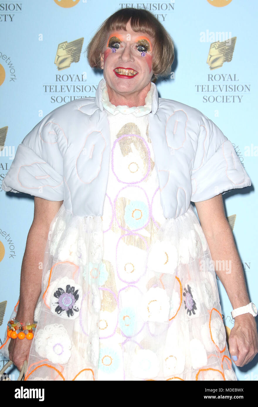 Mar 20 2018 Grayson Perry Attending Rts Programme Awards 2018 Grosvenor House Hotel In London England Uk Stock Photo Alamy