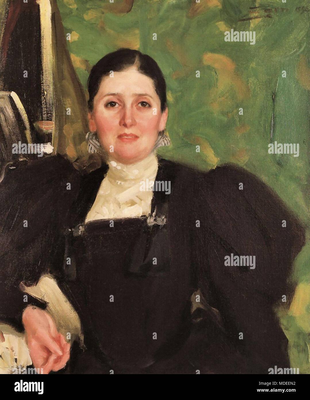 Zorn Anders - Portrait of Martha Liebermann-Marckwald - Stock Image