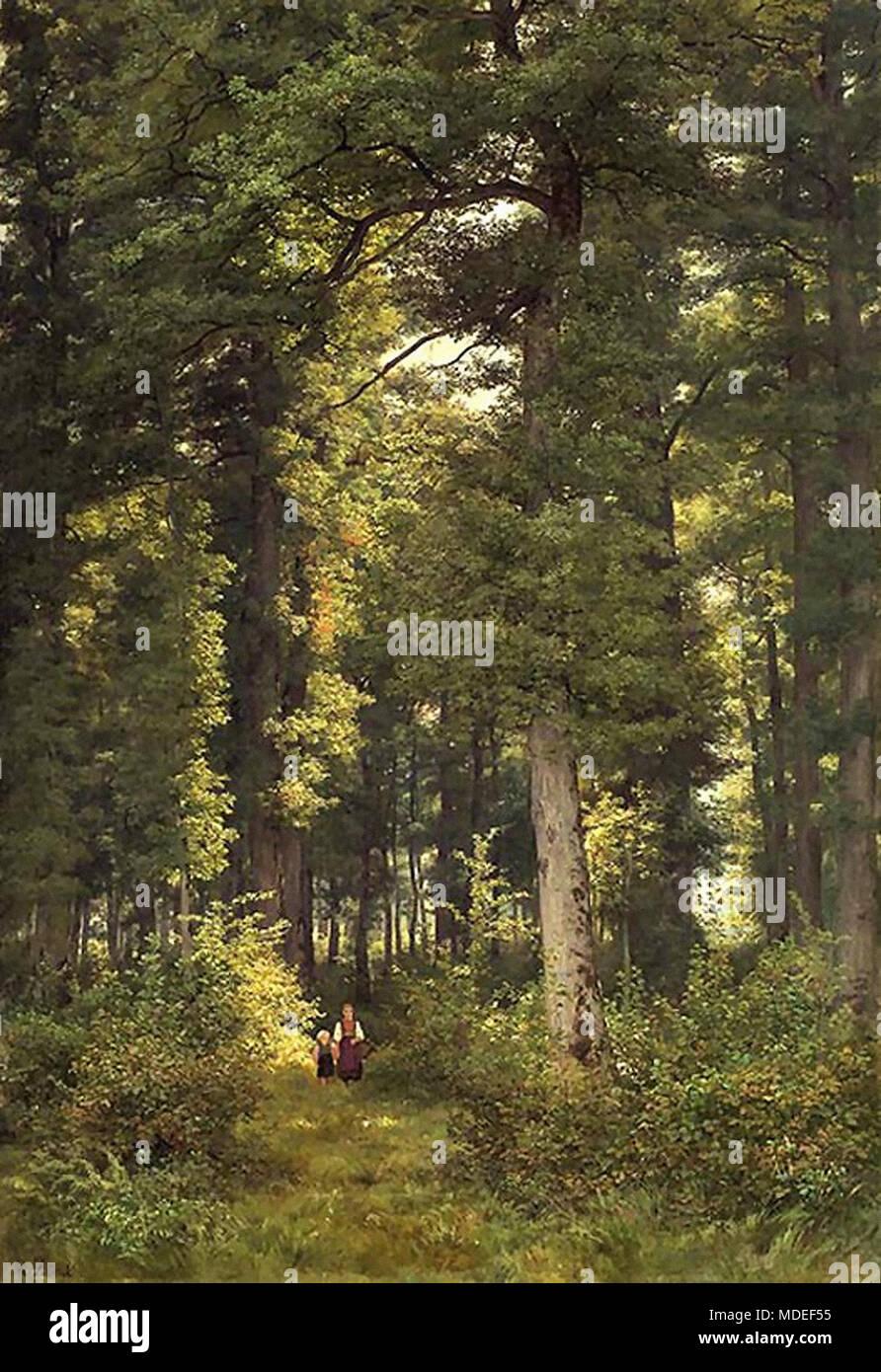 Zund Robert - Zwei Kinder IM Eichenwald - Stock Image