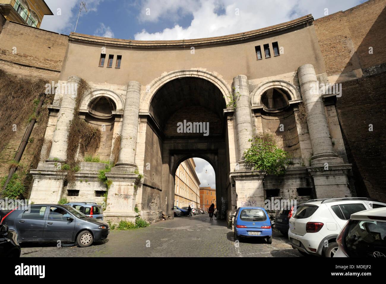 Italy, Rome, Porta Santo Spirito - Stock Image
