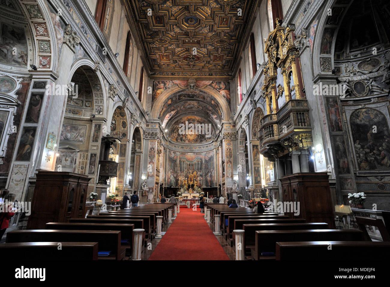 italy, rome, church of santo spirito in sassia - Stock Image