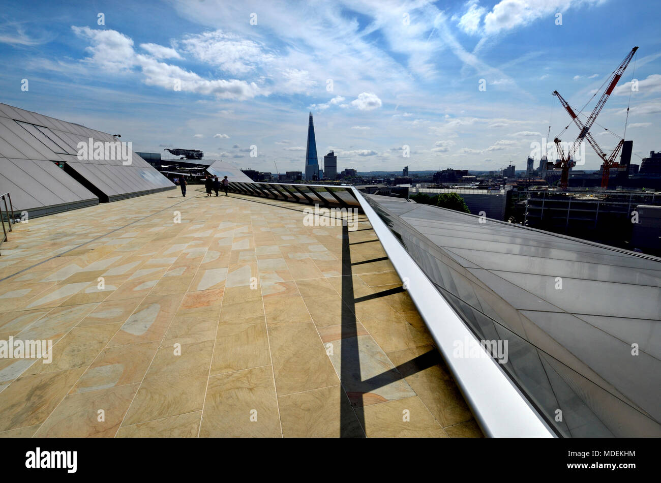 London, England, UK. Rooftop of One New Change, opposite St Paul's Cathedral - Stock Image