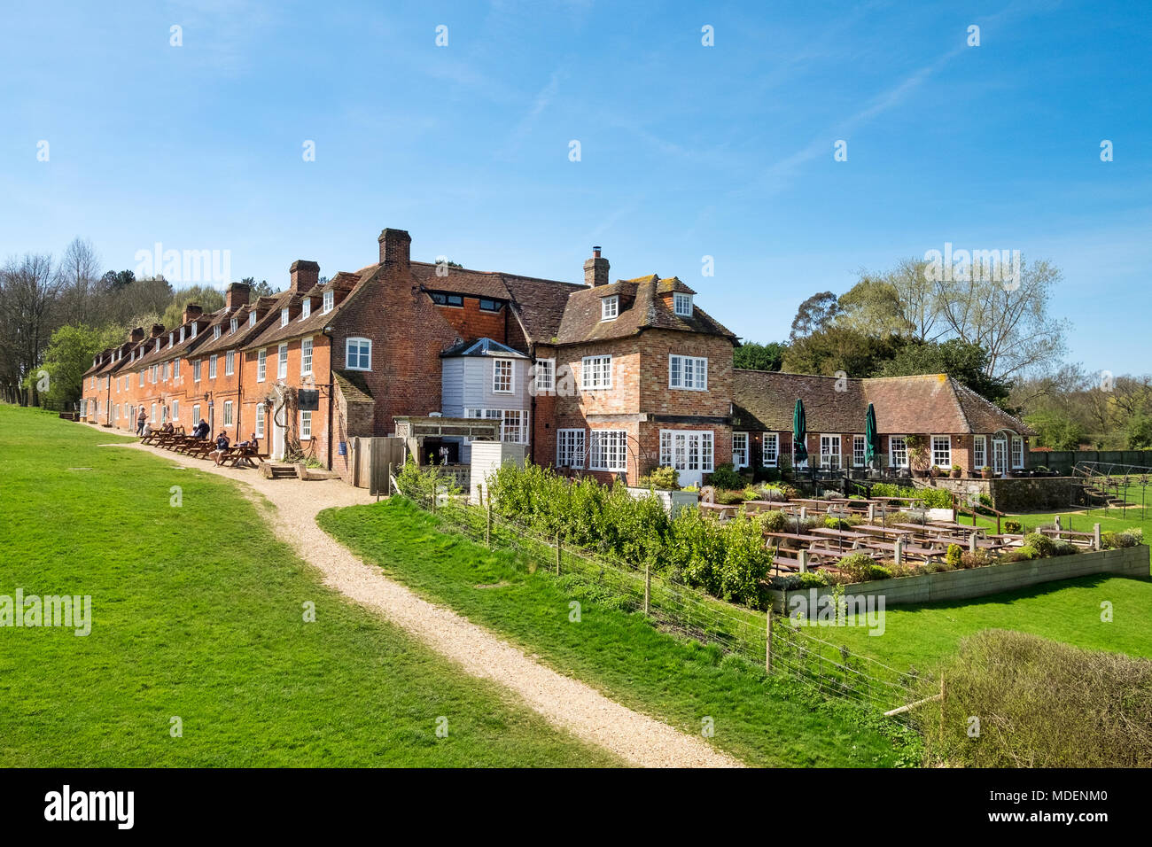 Master Builders pub and hotel, Buckler's Hard, Beaulieu - Stock Image