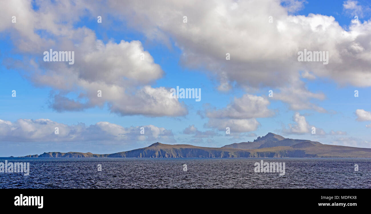Approaching Cape Horn from the North in Tierra del Fuego of Chile - Stock Image