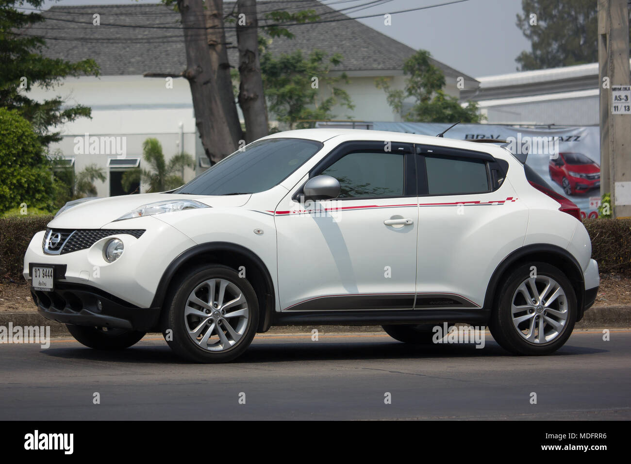 CHIANG MAI, THAILAND  MARCH 22 2018: Private Car, Nissan Juke. On