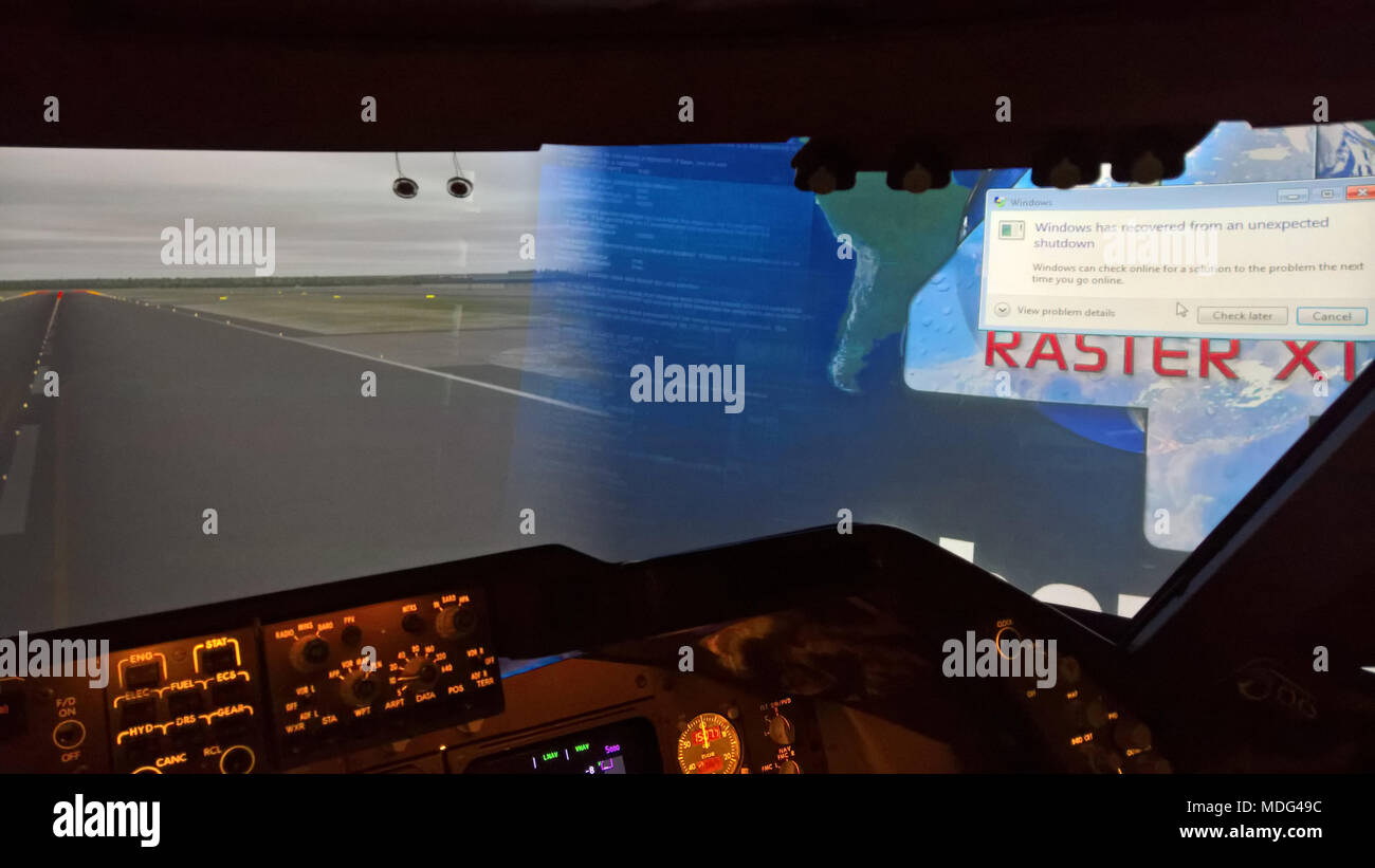 Flight Simulator Computer Stock Photos & Flight Simulator