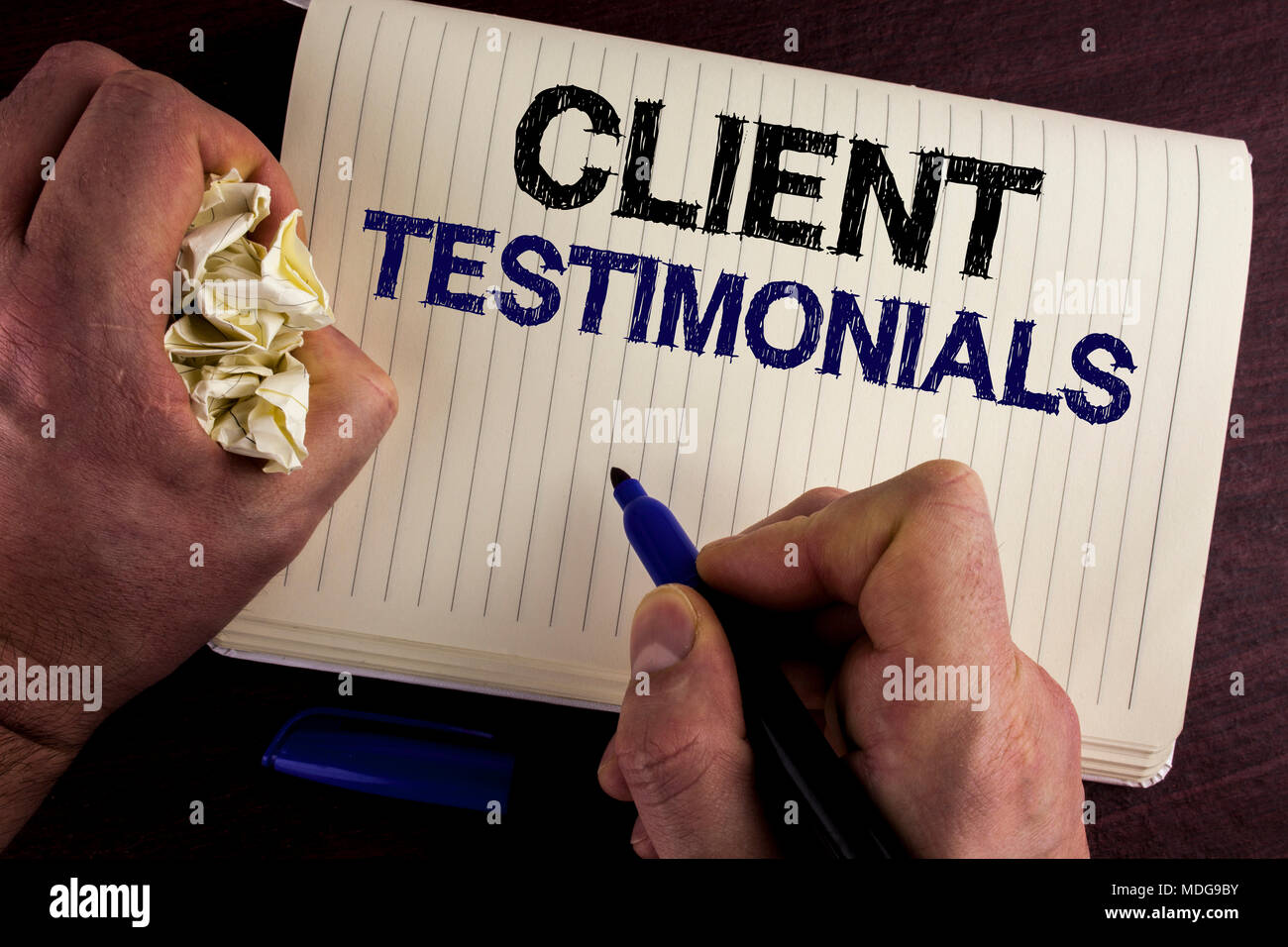 Writing note showing Client Testimonials  Business photo showcasing
