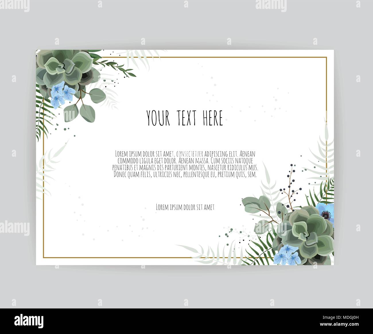 Vector floral design card. Greeting, postcard wedding invite ...