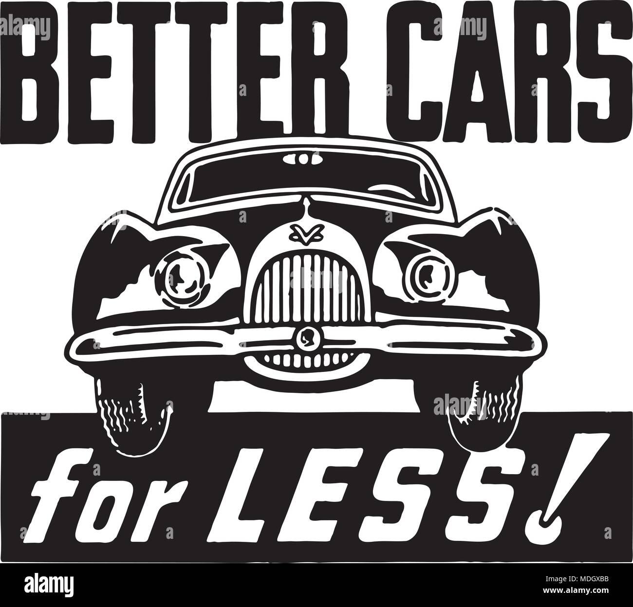 Cars For Less >> Better Cars For Less Retro Ad Art Banner Stock Vector Art