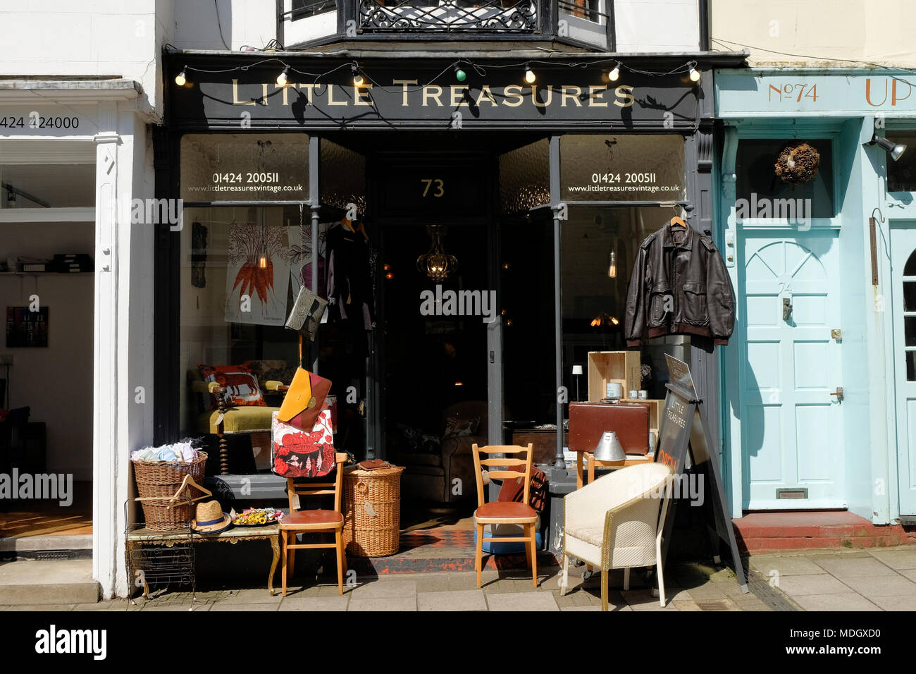Little Treasures shop, vintage shop, hastings, east sussex, uk - Stock Image