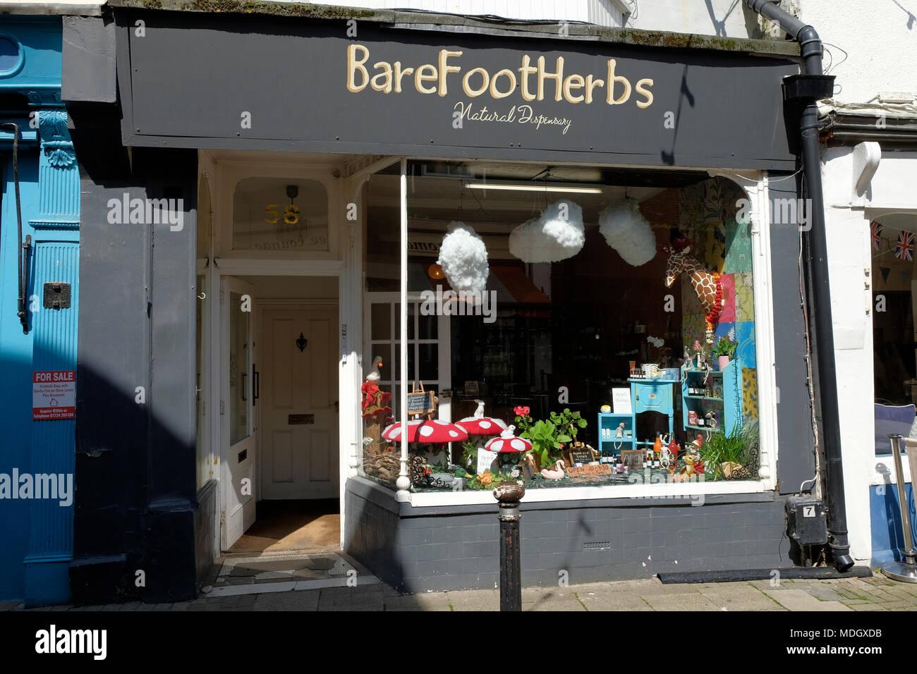 Bare foot herbs shop, Hastings, uk - Stock Image