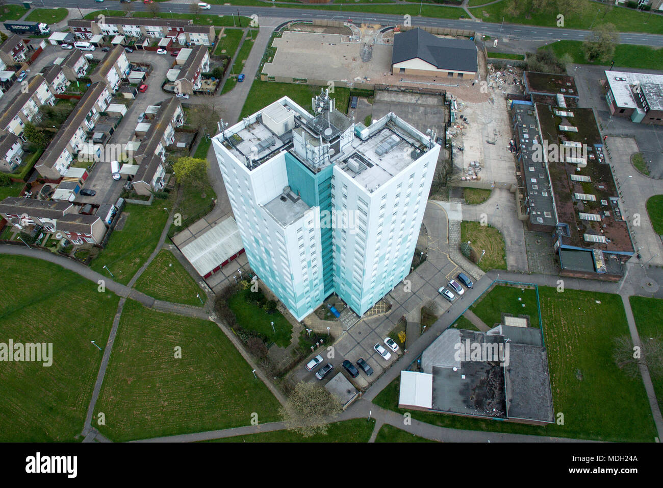 Padstow house, Bransholme, High rise social housing - Stock Image