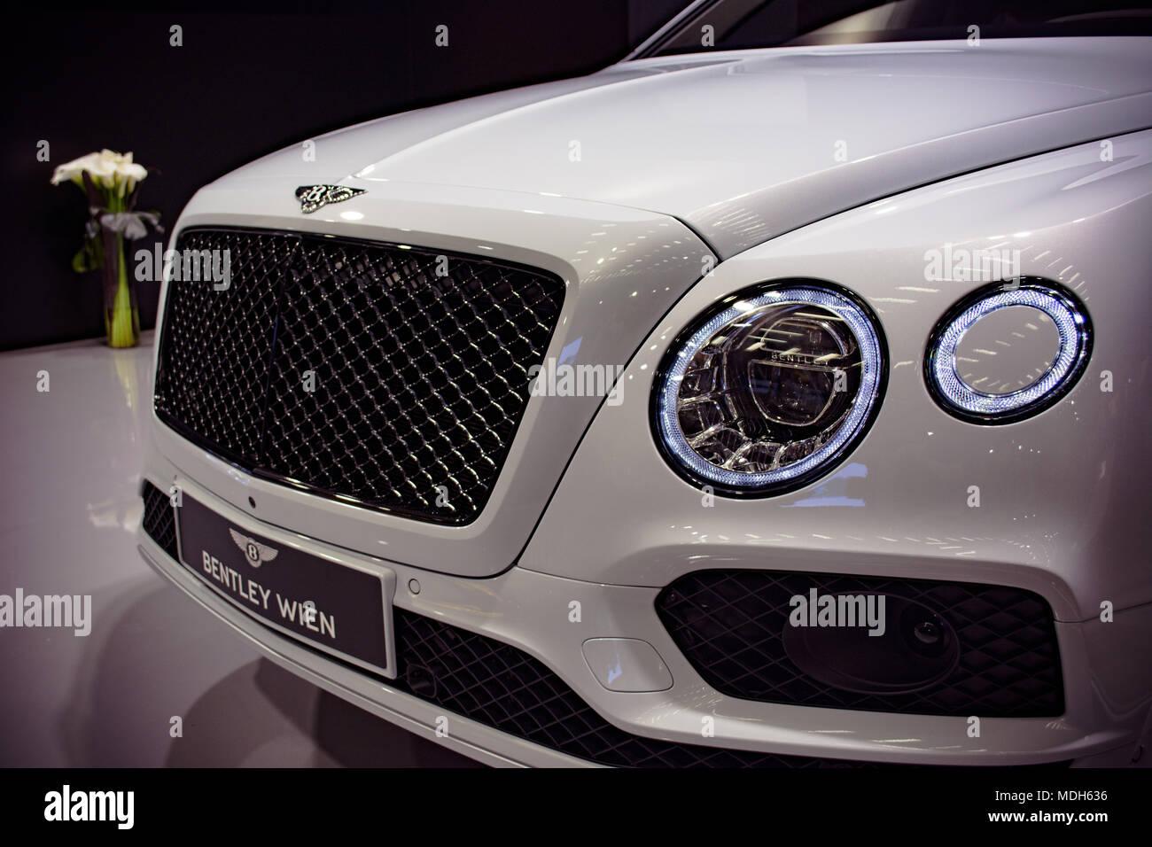 Bentley in Zagreb Auto Show, April 2018 - Stock Image