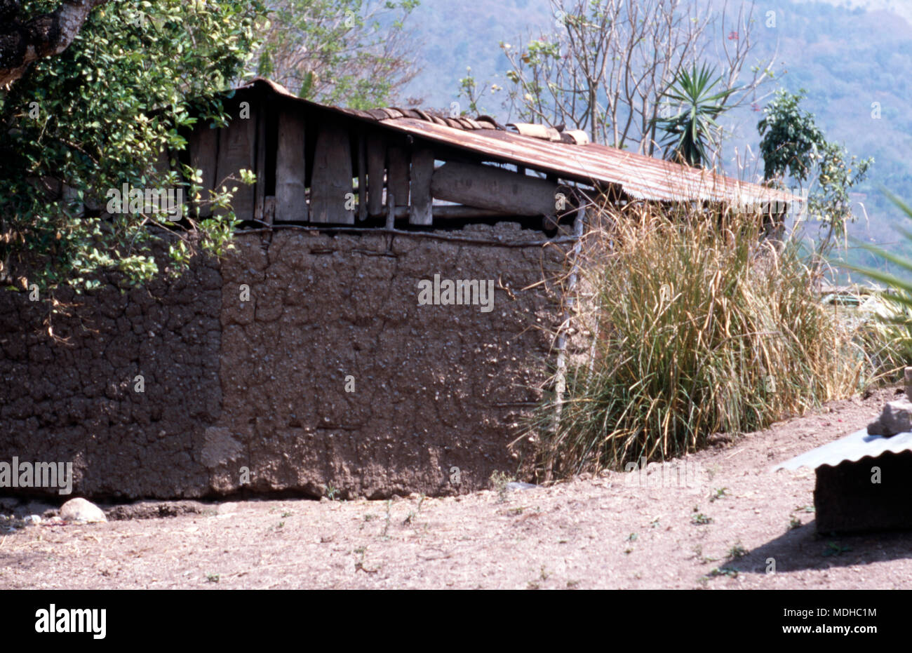 "A ""modern"" Chortí indigenous Mayan house in western Honduras.Stock Photo"