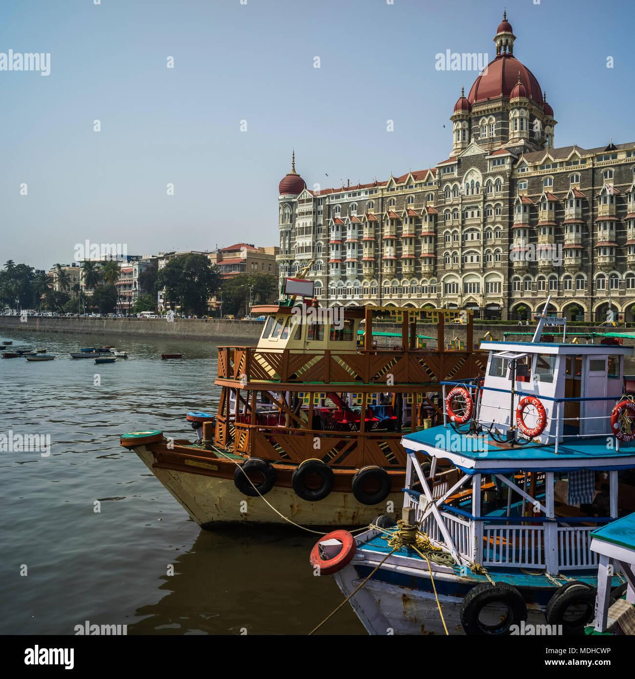 Taj Mahal Hotel; Mumbai, Maharashtra, India - Stock Image