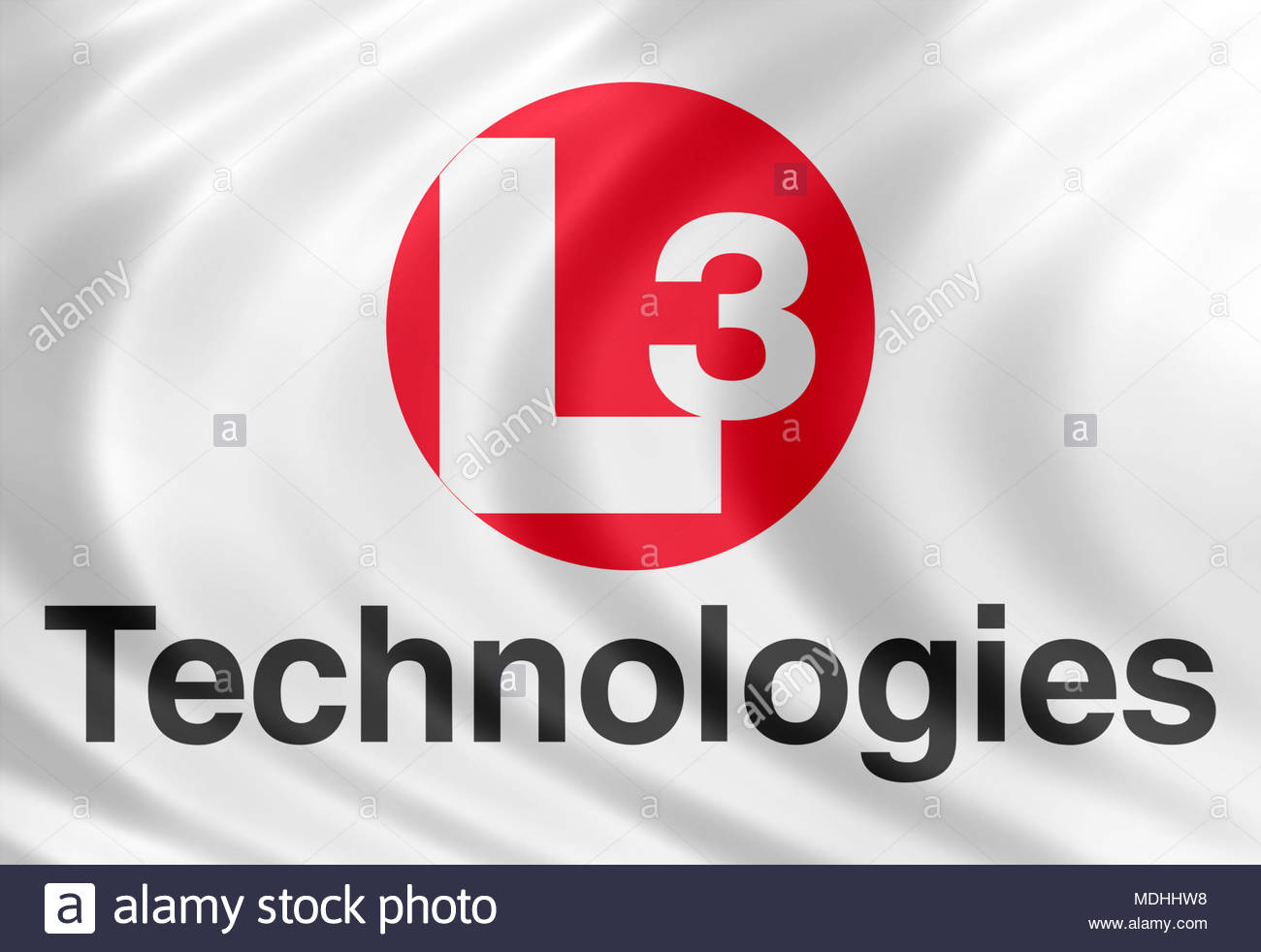 L3 Technologies logo icon sign - Stock Image