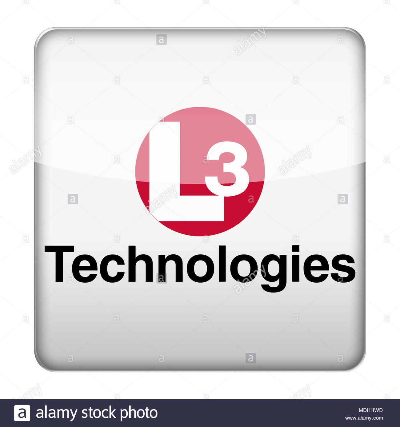 L3 Technologies logo icon - Stock Image
