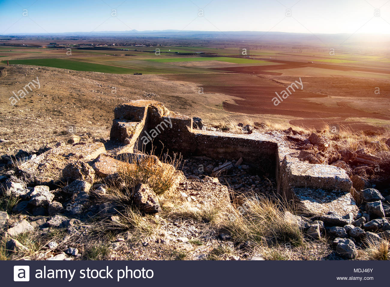 Remains of the Spanish Civil War - Stock Image