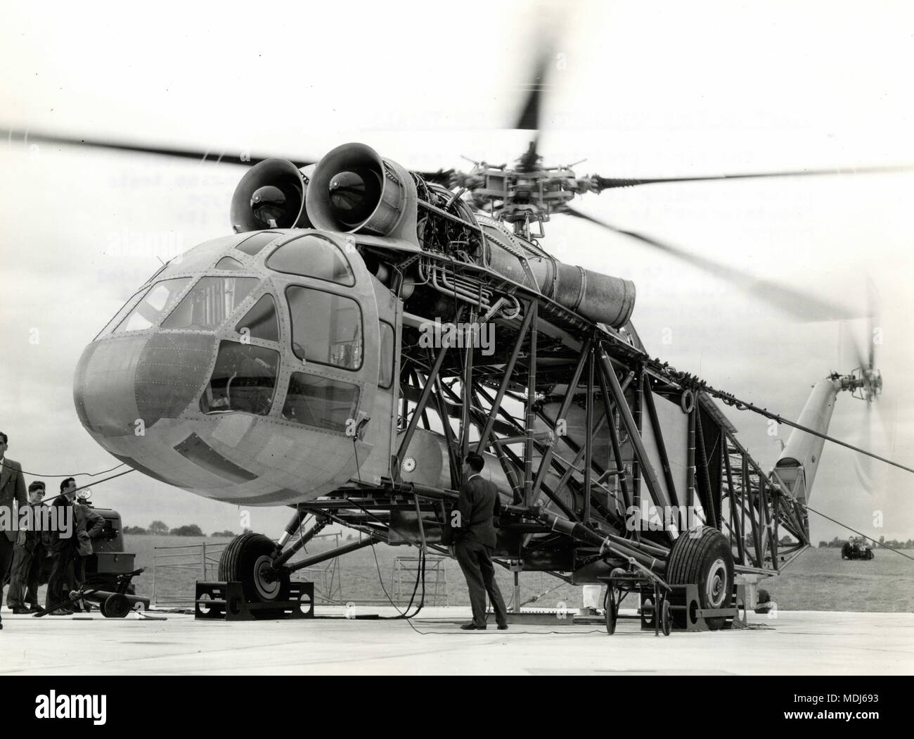 Giant British helicopter prototype Westland Westminster, Somerset, UK 1958 - Stock Image