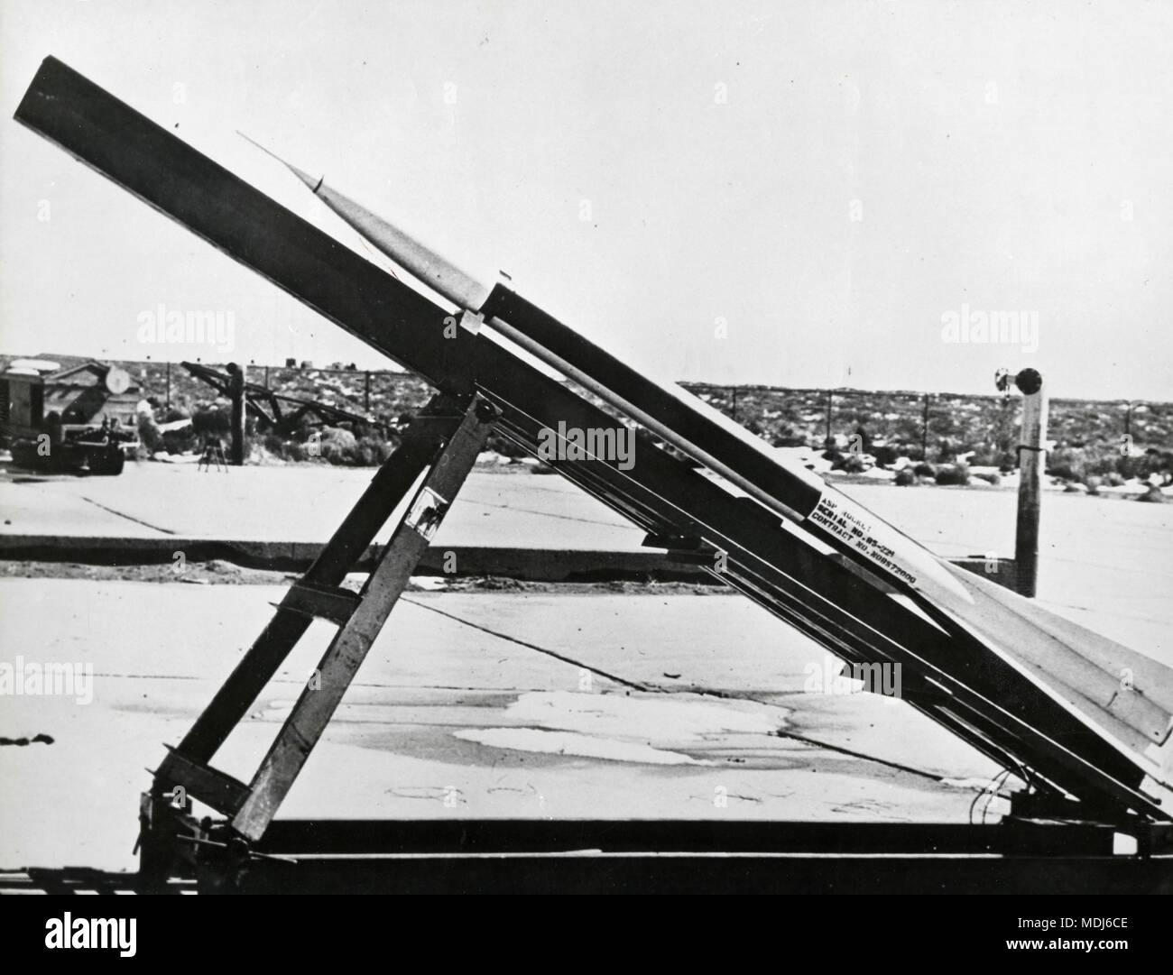 Nike ASP rocket, USA 1958 - Stock Image