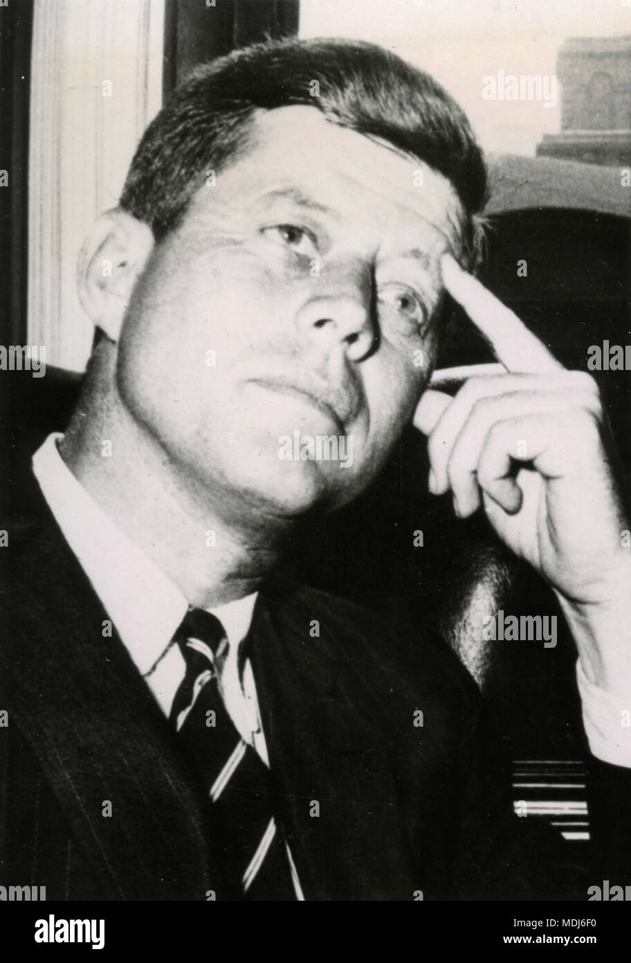 US President John F. Kennedy , USA 1961 - Stock Image