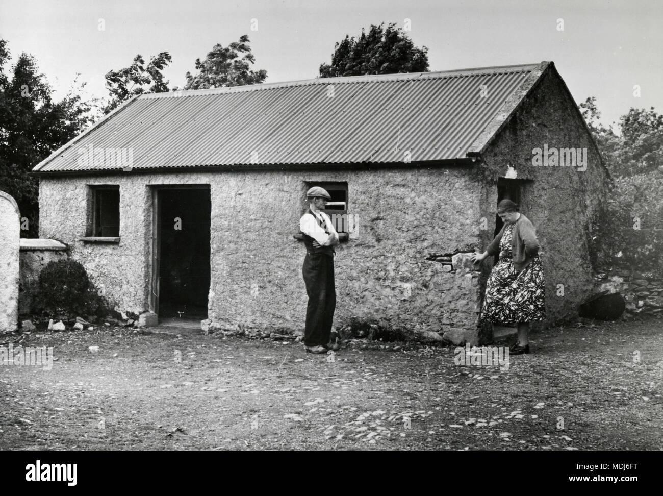 James Kennedy, cousin of JFK, in his Irish farmhouse, Dungenstown, Ireland - Stock Image