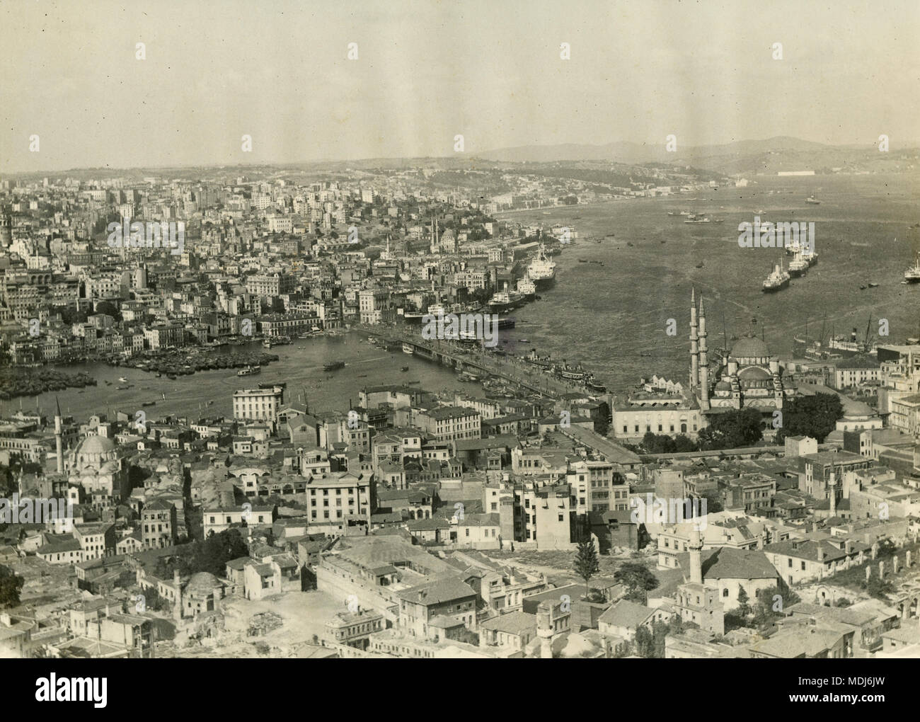 View of Istanbul, Turkey 1930 - Stock Image