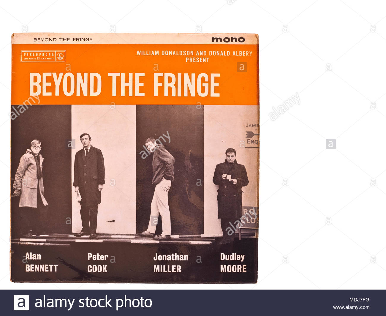 Beyond the Fringe humour, LP with copy space - Stock Image