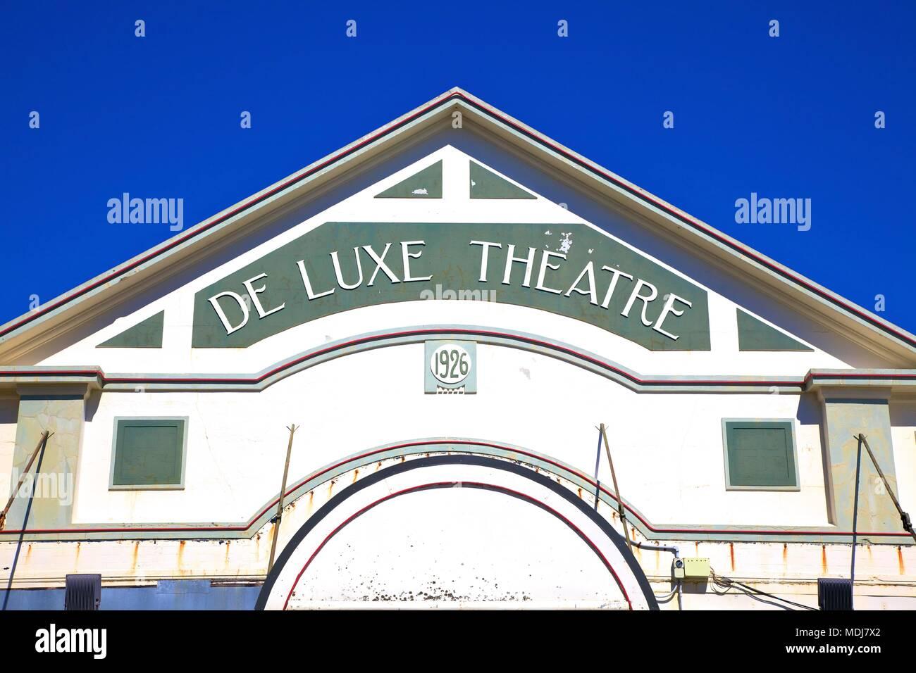 De Luxe Theatre, Opotiki, Bay Of Plenty, New Zealand, South West Pacific Ocean. - Stock Image