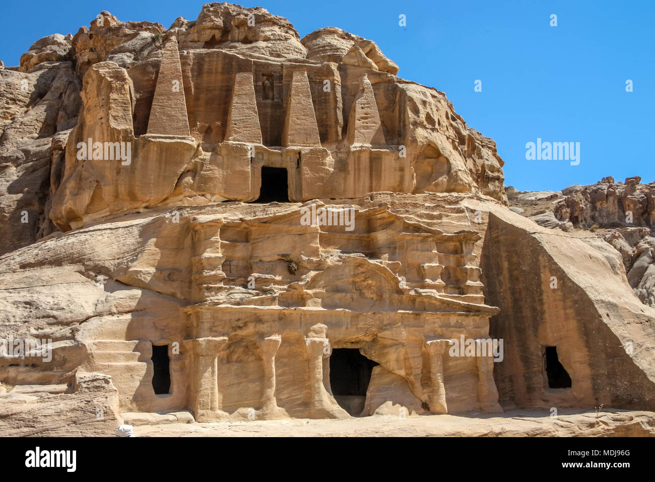 Obelisk Tomb and the Triclinium - Stock Image