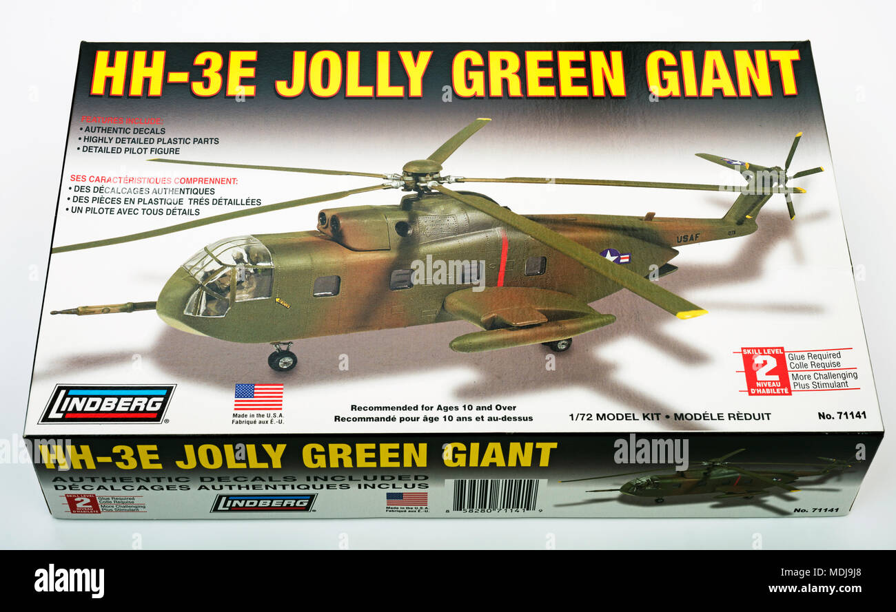Lindberg HH-3E Jolly Green Giant model helicopter - Stock Image
