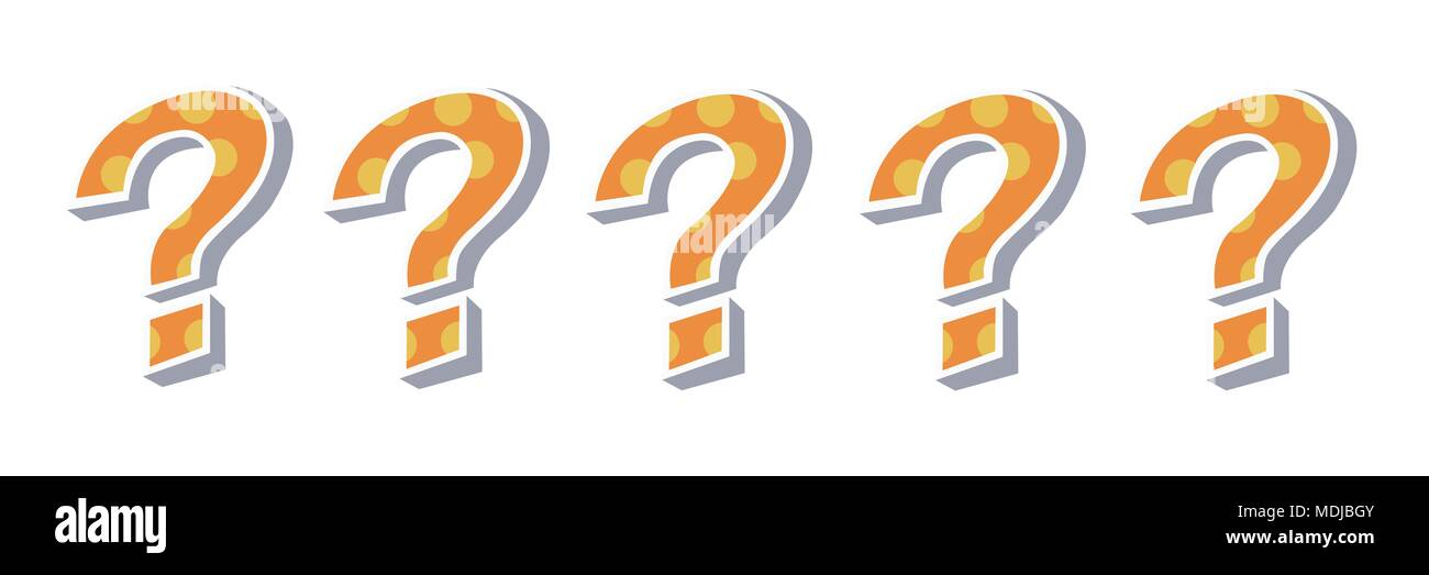 Question Marks Cut Out Stock Images Pictures Alamy