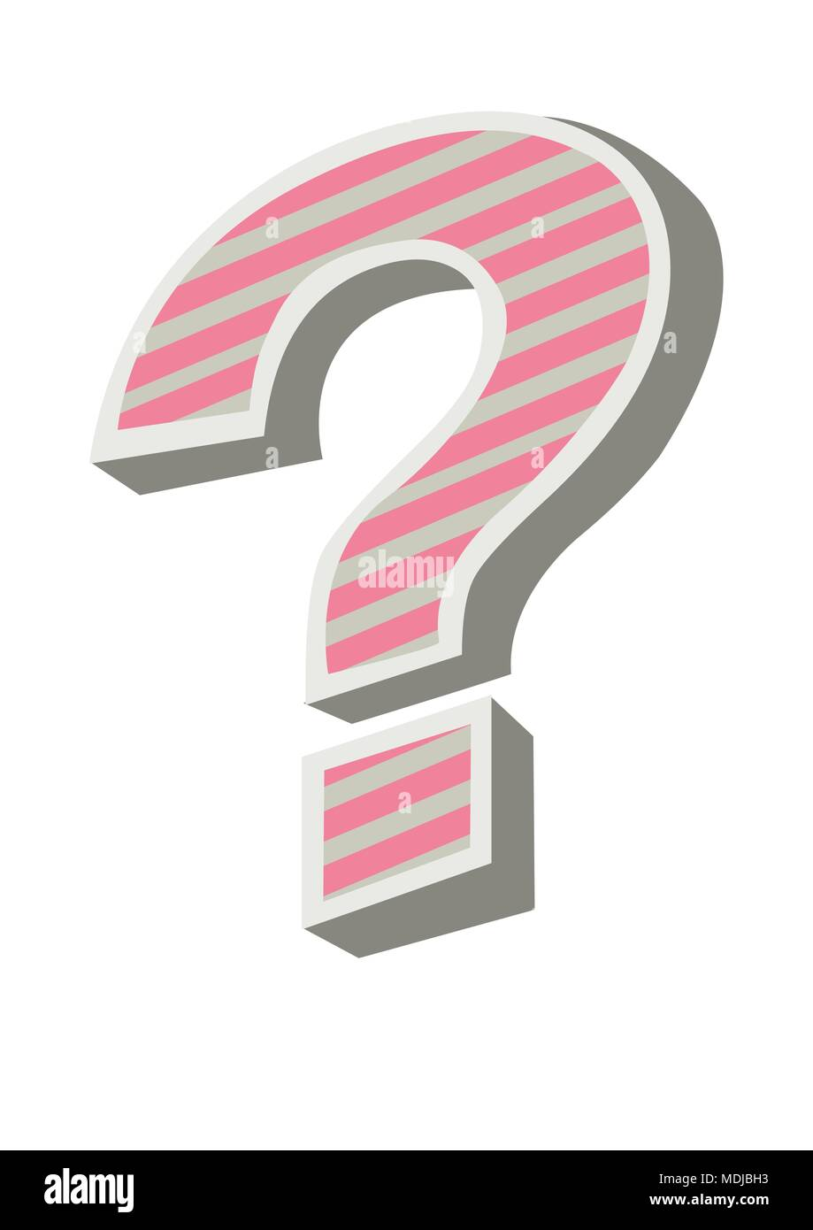 funky question mark - Stock Image