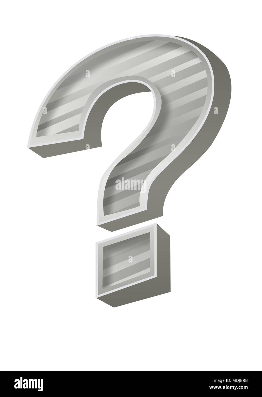 grey question mark - Stock Image