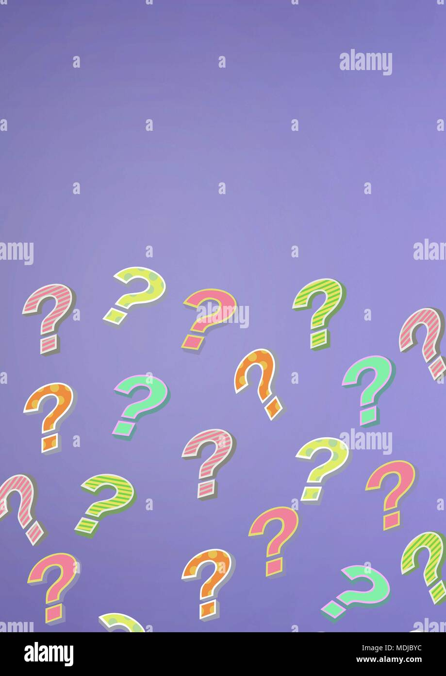 colorful funky question marks stock photo 180498736 alamy