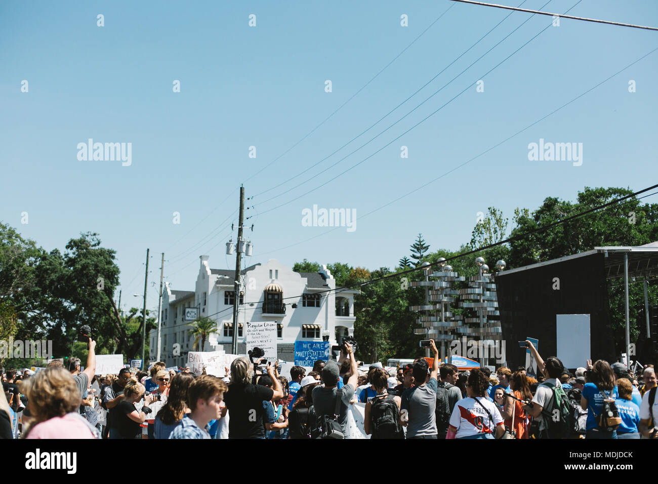 March For Our Lives Nationwide Event in Downtown Orlando, Florida (2018). - Stock Image