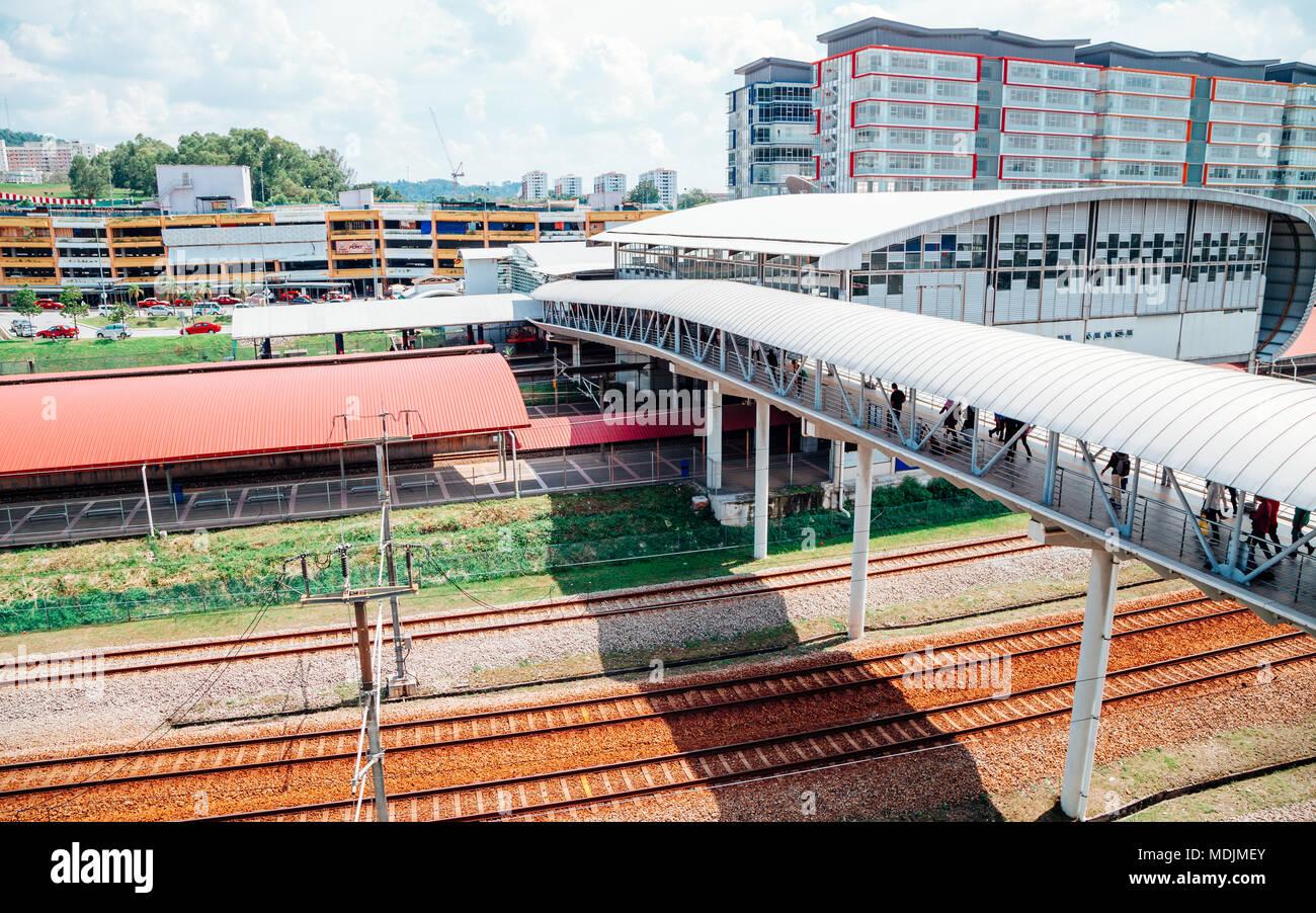 Kuala Lumpur, Malaysia - January 7, 2018 : Bandar Tasik Selatan Station - Stock Image
