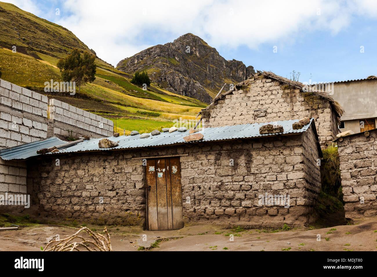 Ecuador house mountains andes stock photos ecuador house for La mansion casa hotel apurimac