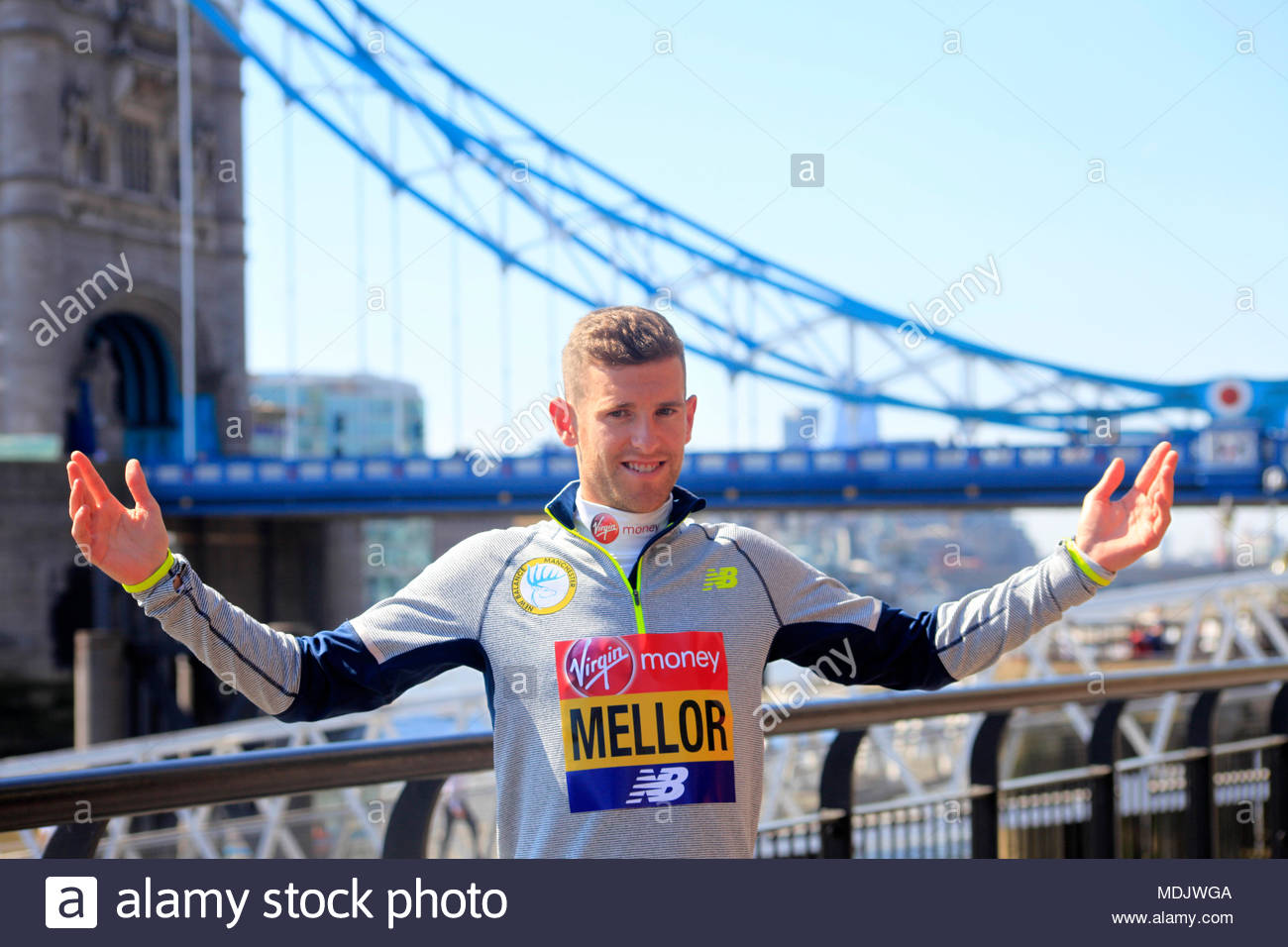 Tower Hotel, London, UK. 19th April 2018 .  Jonny Mellow (GBR) during a press photocall ahead of the Virgin Money London Marathon. Credit: Ng'ang'a/Alamy Live News. Stock Photo