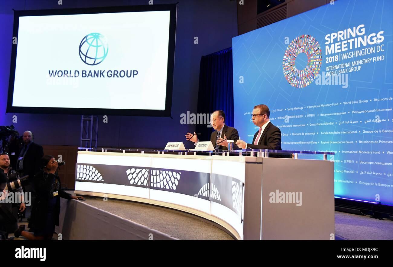 Washington, USA  19th Apr, 2018  World Bank President Jim