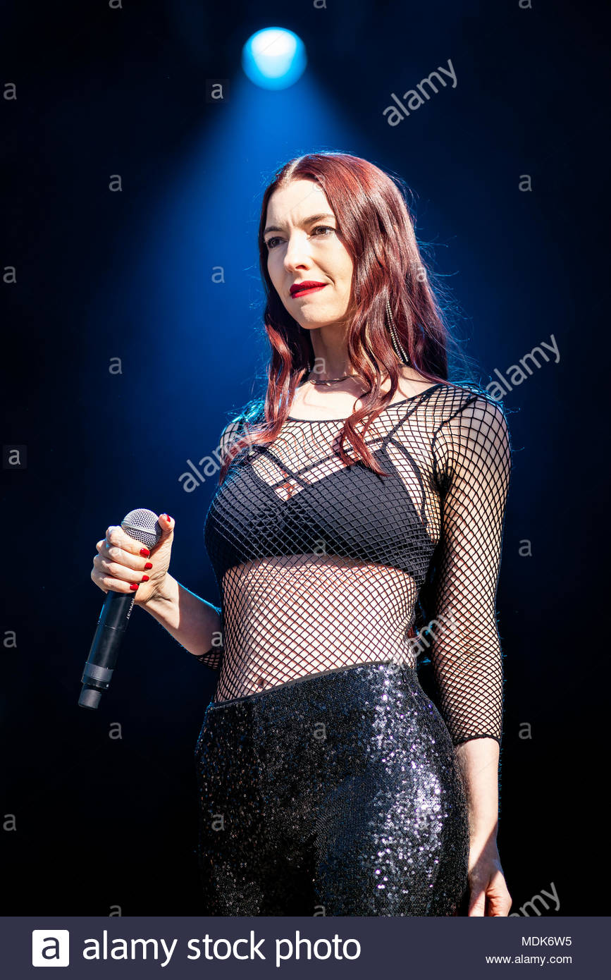 Chamonix, France. 19th April 2018. Chrysta Bell performing live at the first edition of MUSILAC Mont-Blanc music festival in Chamonix (France) - Thursday19 april 2018 Credit: Olivier Parent/Alamy Live News - Stock Image