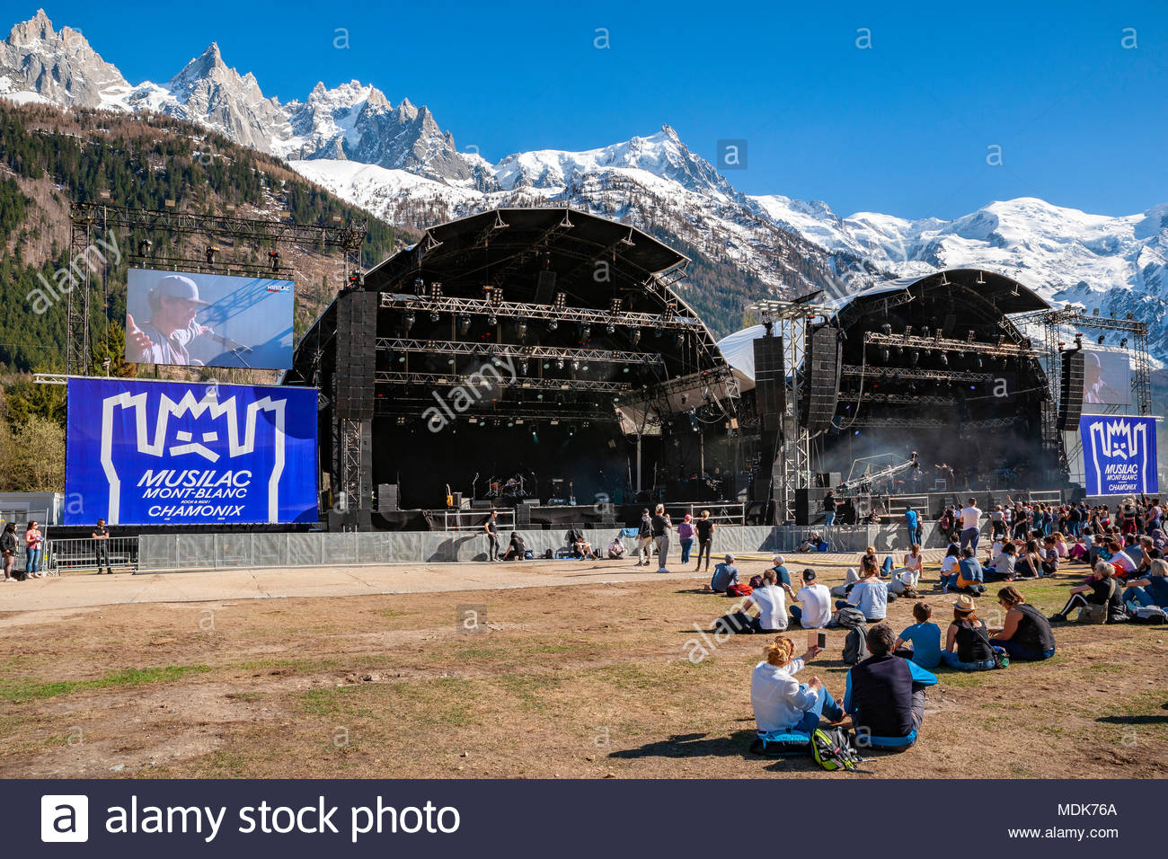 Chamonix, France. 19th April 2018. Opening of MUSILAC Mont-Blanc Festival located in Chamonix (France), 1st edition (2018) Credit: Olivier Parent/Alamy Live News Stock Photo