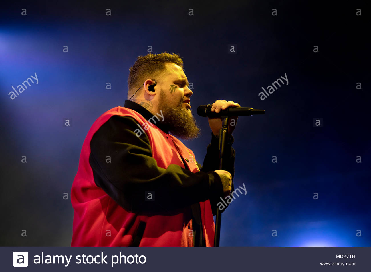 Rag'n'Bone Man (singer Rory Graham) performing live at the first edition of MUSILAC Mont-Blanc music festival in Chamonix (France) - Thursday 19 april 2018 - Stock Image