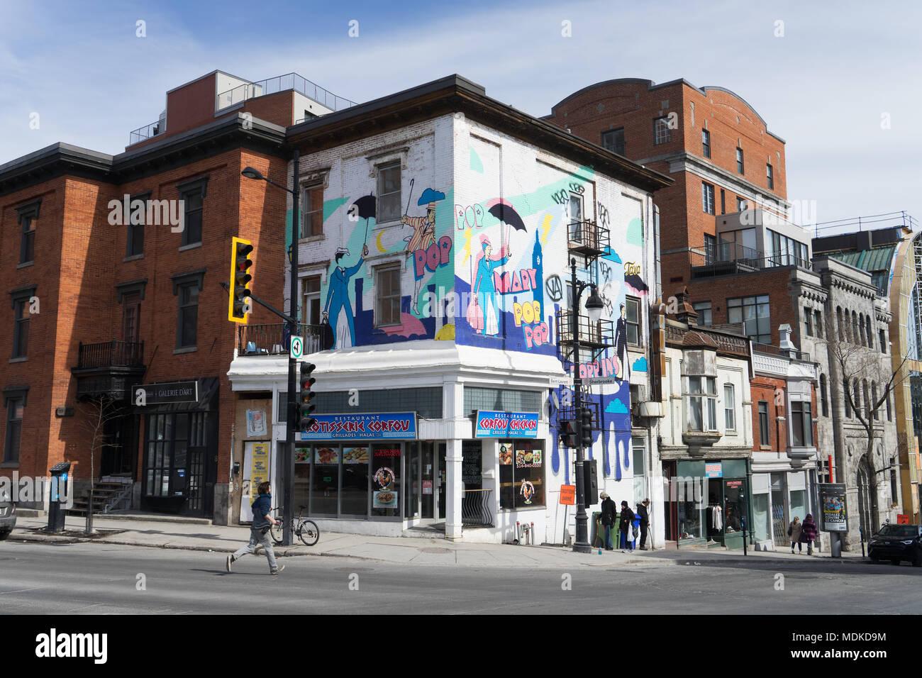corner of st laurent and sherbrooke streets montreal. Black Bedroom Furniture Sets. Home Design Ideas