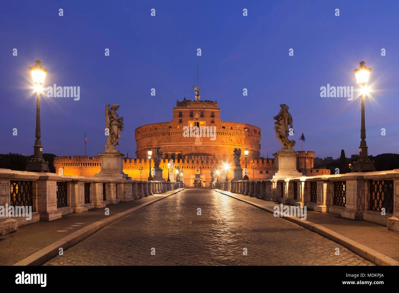 Dawn, Rome, Lazio, Italy - Stock Image