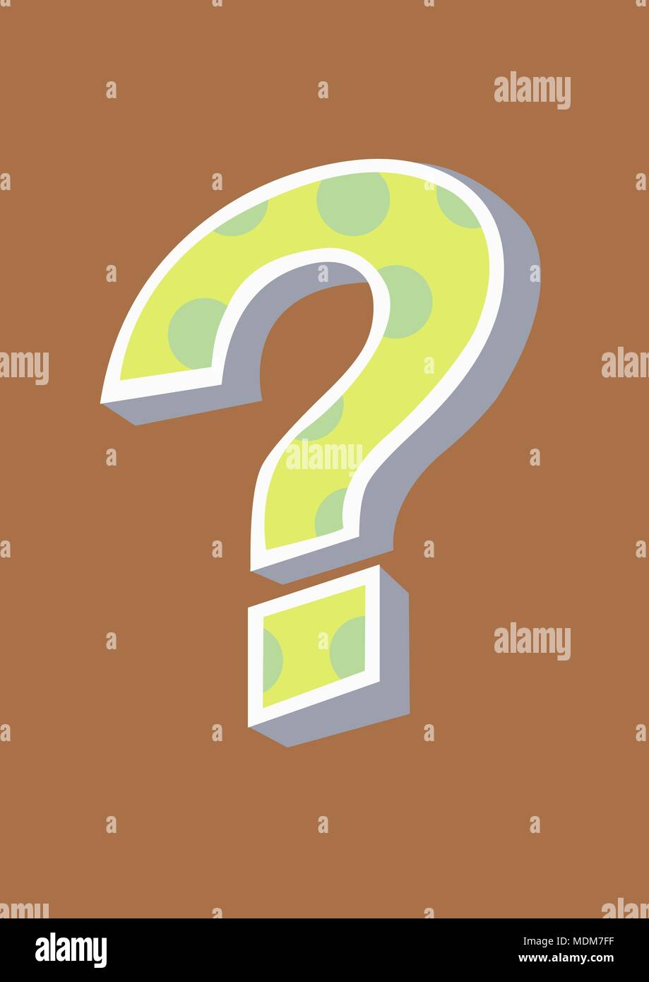 funky cool question mark - Stock Image