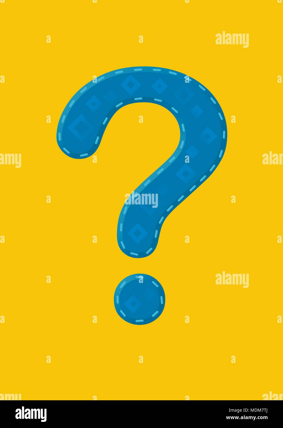 blue question mark - Stock Image