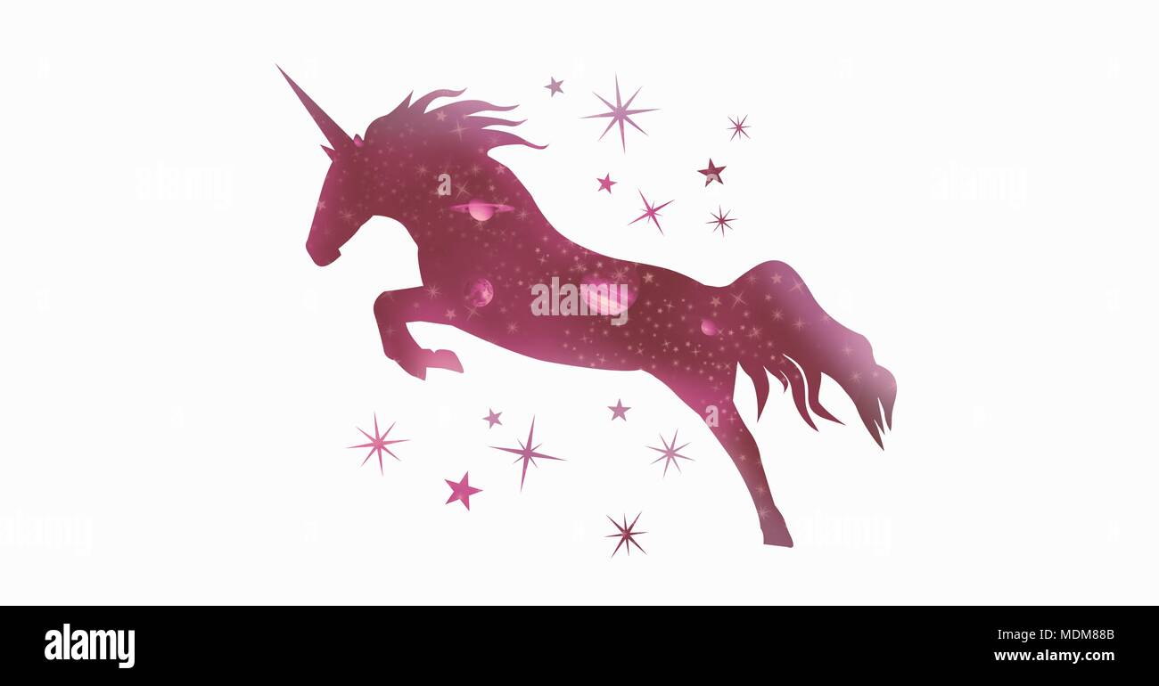 Unicorn Silhouette Stock Photos & Unicorn Silhouette Stock
