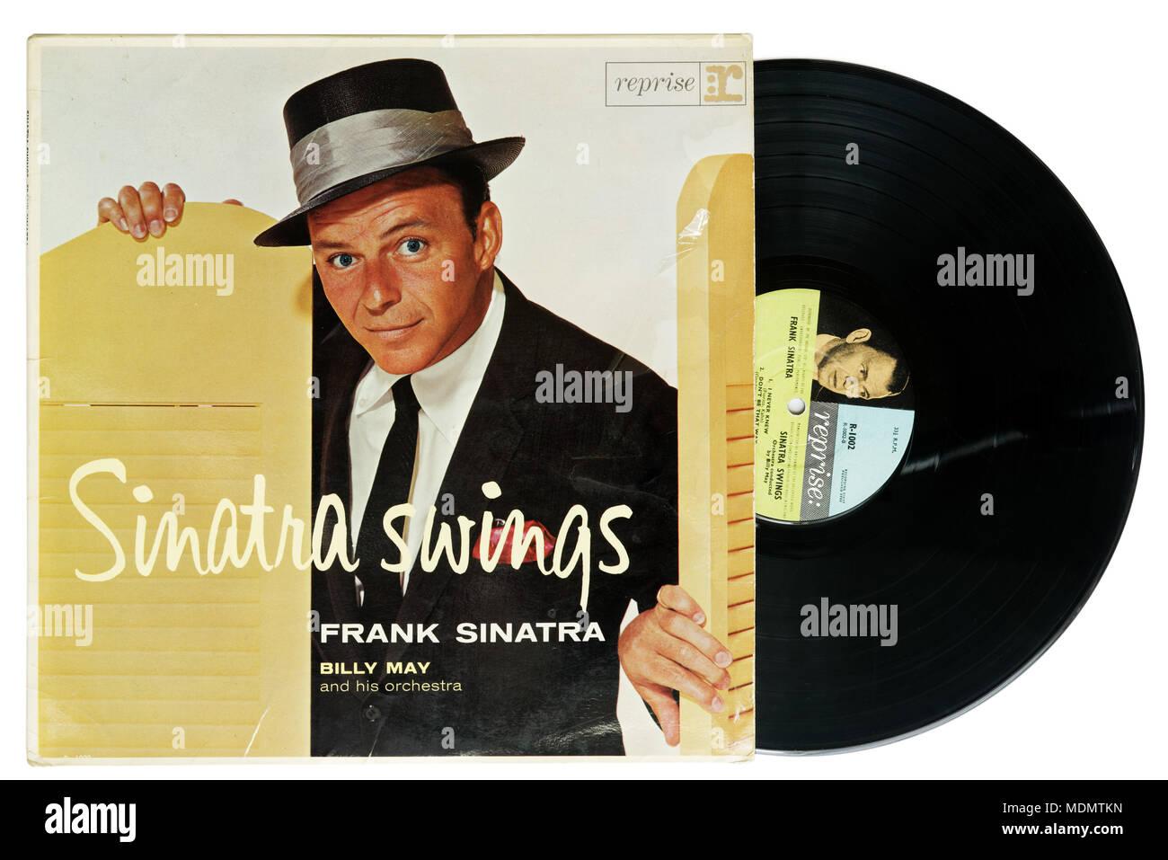 Sinatra Swings album by Frank Sinatra - Stock Image