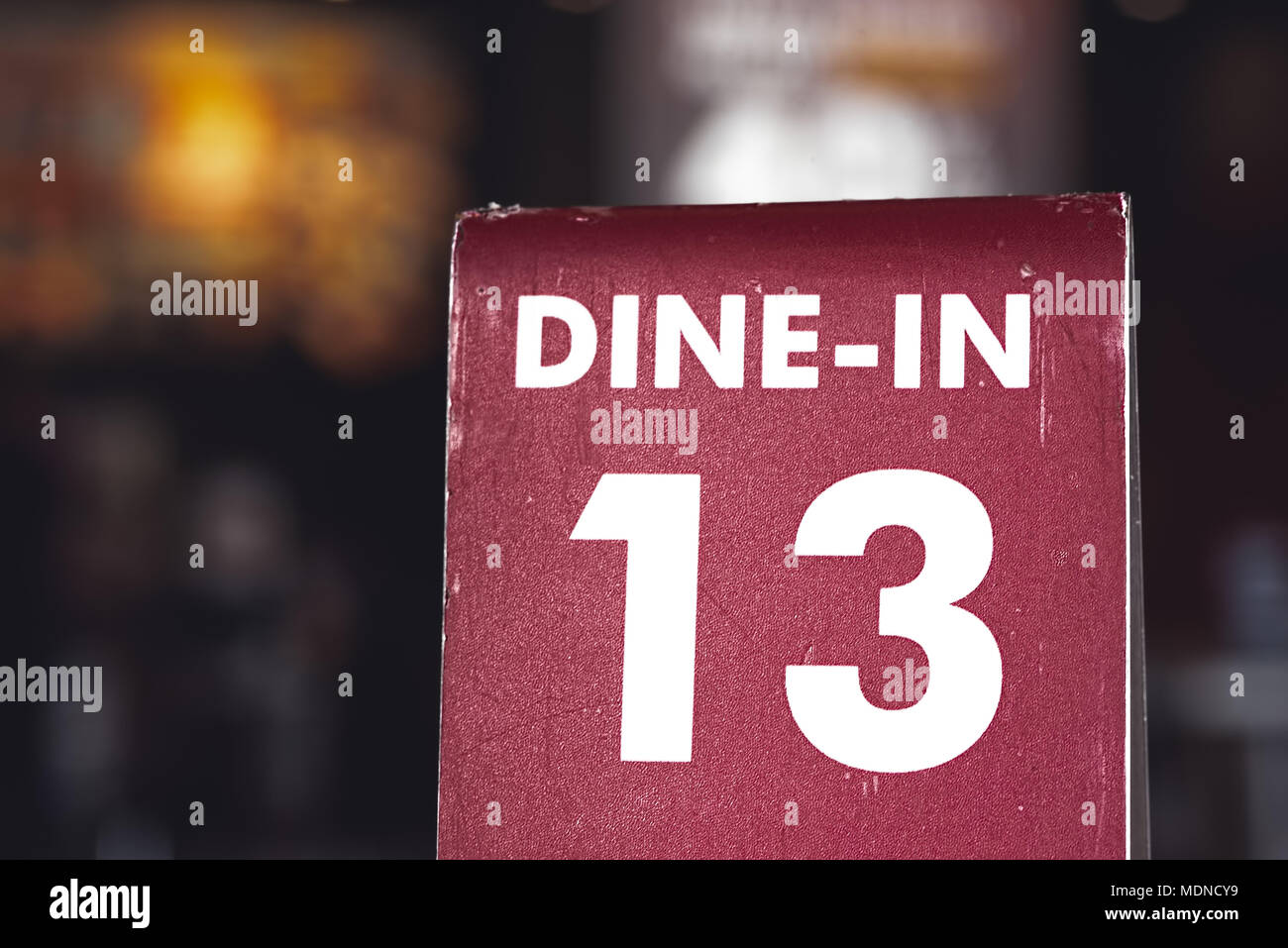 Restaurant Dine In Table Top Sign Holders Queueing Serving Unlucky - Restaurant table top sign holders